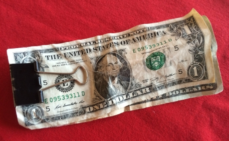 Dad's Twenty-one Dollars that went through the wash